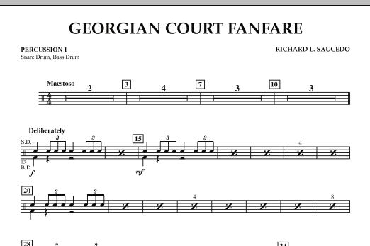 Georgian Court Fanfare - Percussion 1 (Concert Band)