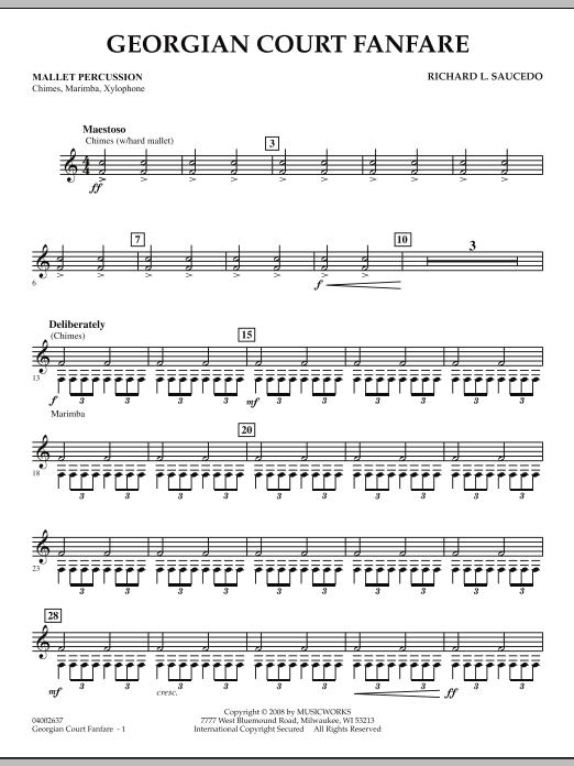 Georgian Court Fanfare - Mallet Percussion (Concert Band)