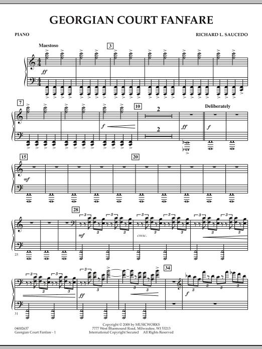 Georgian Court Fanfare - Piano (Concert Band)