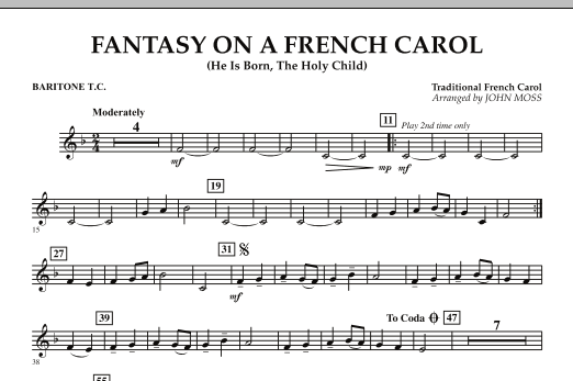 Fantasy on a French Carol - Baritone T.C. (Concert Band)