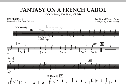 Fantasy on a French Carol - Percussion 2 (Concert Band)
