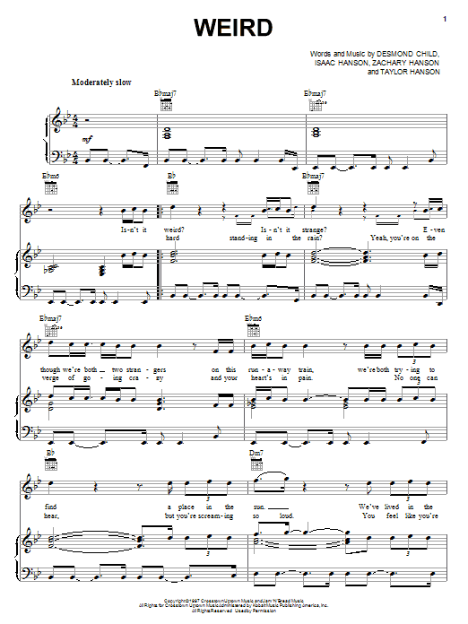 Weird (Piano, Vocal & Guitar (Right-Hand Melody))