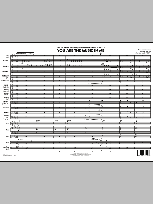 You Are The Music In Me (from High School Musical 2) (COMPLETE) sheet music for jazz band by Jamie Houston and John Berry. Score Image Preview.