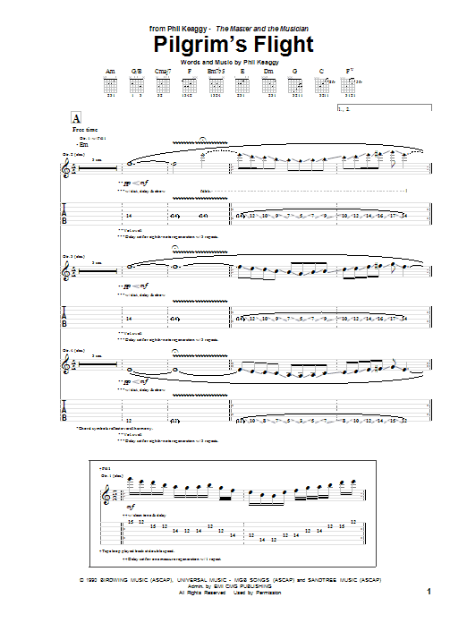 Pilgrim's Flight (Guitar Tab)