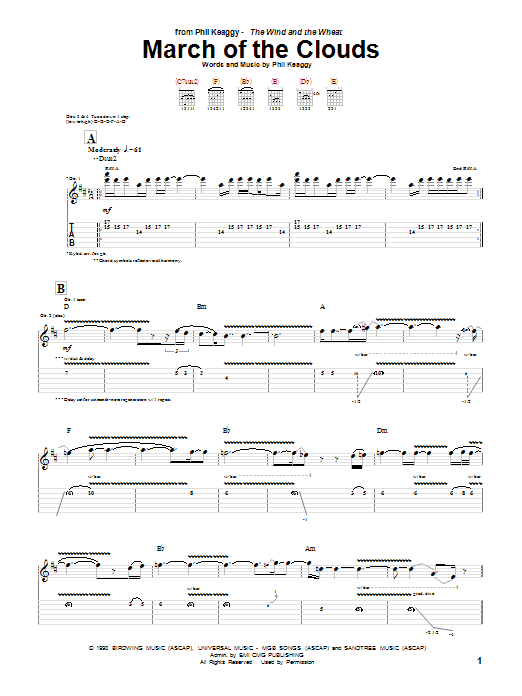 March Of The Clouds Sheet Music