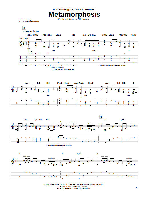 Metamorphosis (Guitar Tab)