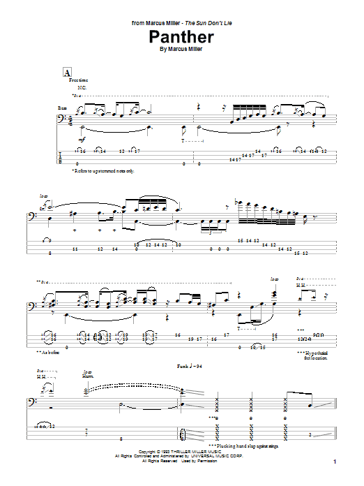 Panther Sheet Music