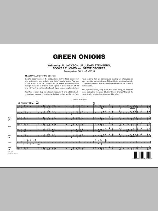 Green Onions - Full Score (Jazz Ensemble)