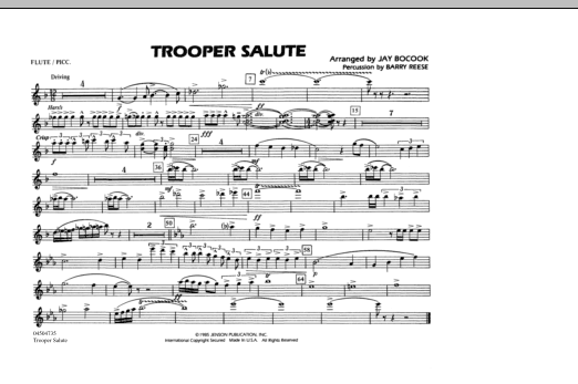 Trooper Salute - Flute/Piccolo (Marching Band)