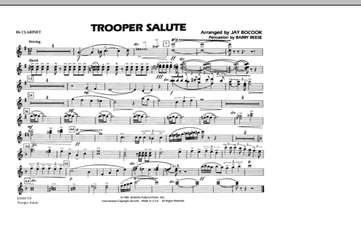 Trooper Salute - Bb Clarinet (Marching Band)
