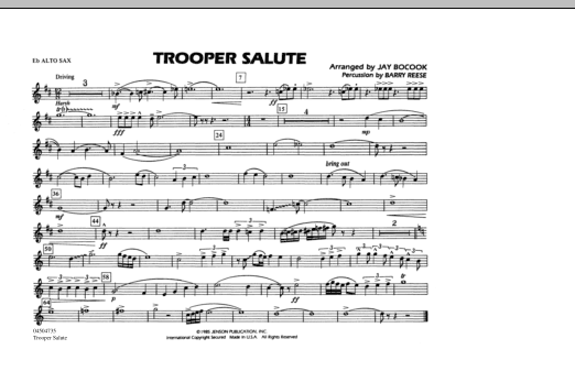 Trooper Salute - Eb Alto Sax (Marching Band)
