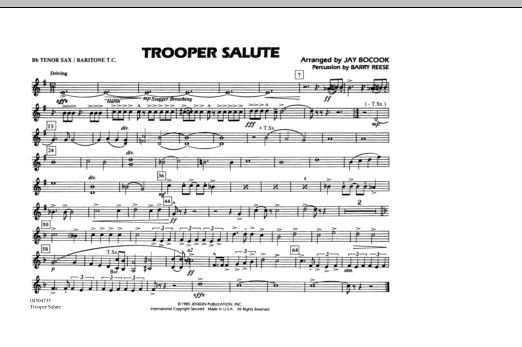Trooper Salute - Bb Tenor Sax/Baritone TC (Marching Band)