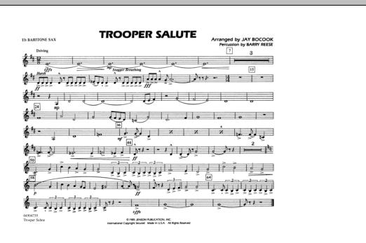Trooper Salute - Eb Baritone Sax (Marching Band)