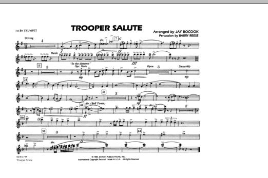 Trooper Salute - 1st Bb Trumpet (Marching Band)