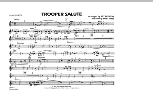 Trooper Salute - 3rd Bb Trumpet (Marching Band)