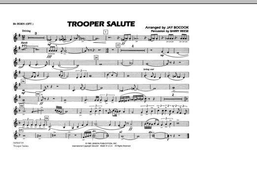 Trooper Salute - Bb Horn/Flugelhorn (Marching Band)