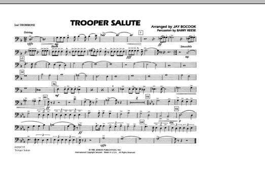 Trooper Salute - 2nd Trombone (Marching Band)
