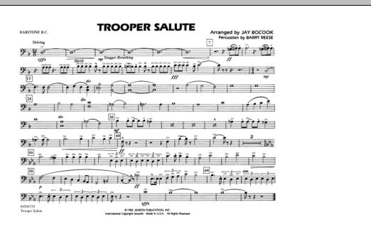 Trooper Salute - Baritone B.C. (Marching Band)