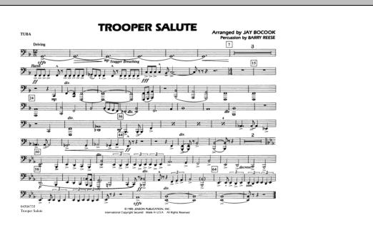 Trooper Salute - Tuba (Marching Band)