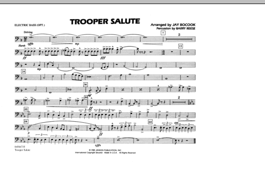 Trooper Salute - Electric Bass (Marching Band)