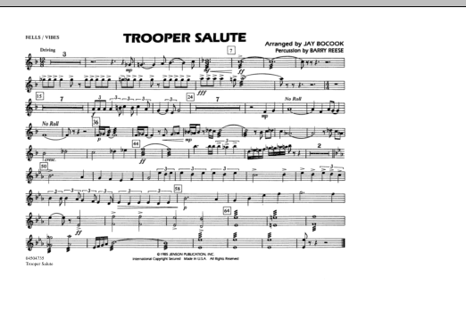 Trooper Salute - Bells/Vibes (Marching Band)