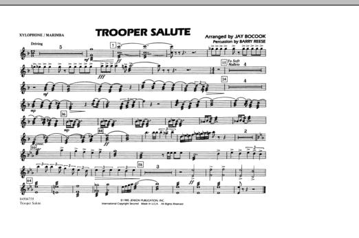 Trooper Salute - Xylophone/Marimba (Marching Band)
