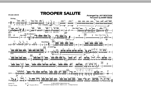 Trooper Salute - Snare Drum (Marching Band)