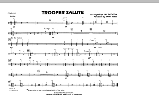 Trooper Salute - Cymbals (Marching Band)