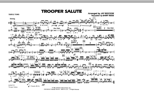 Trooper Salute - Tri-Toms (Marching Band)