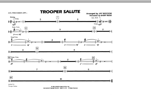 Trooper Salute - Aux Percussion (Marching Band)