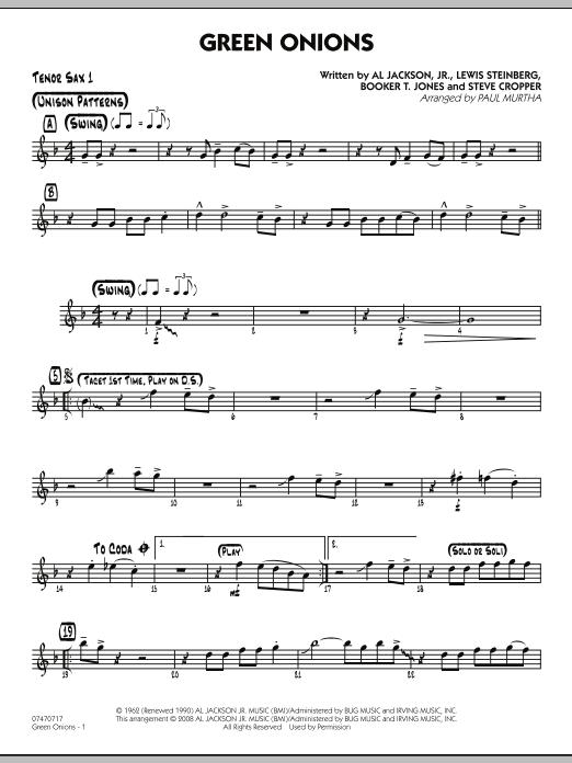 Green Onions - Tenor Sax 1 (Jazz Ensemble)