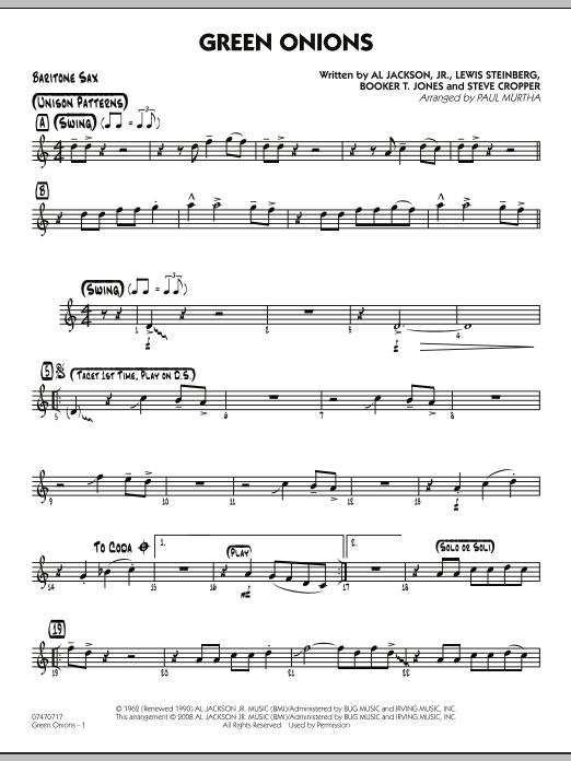Green Onions - Baritone Sax (Jazz Ensemble)