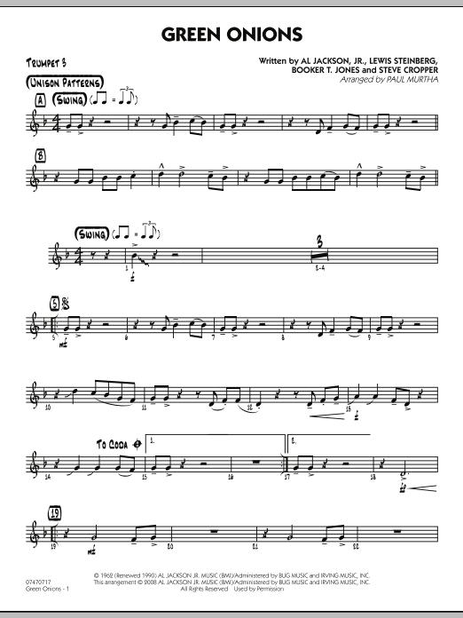Green Onions - Trumpet 3 (Jazz Ensemble)
