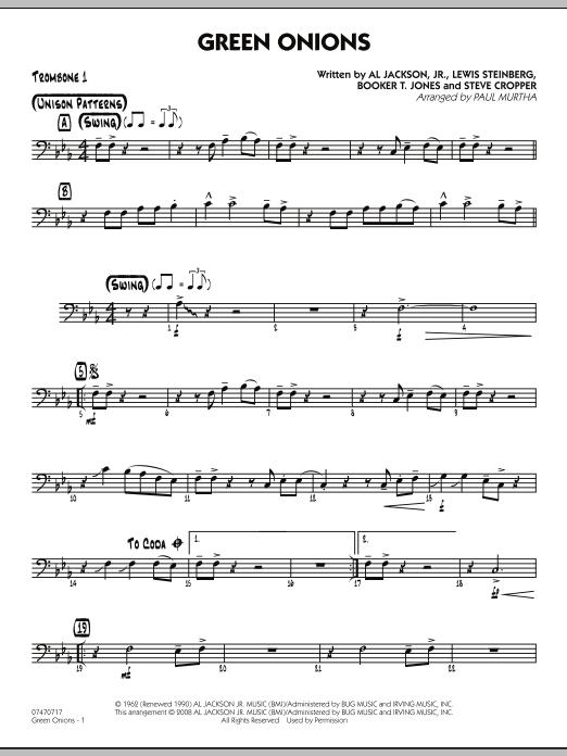 Green Onions - Trombone 1 (Jazz Ensemble)