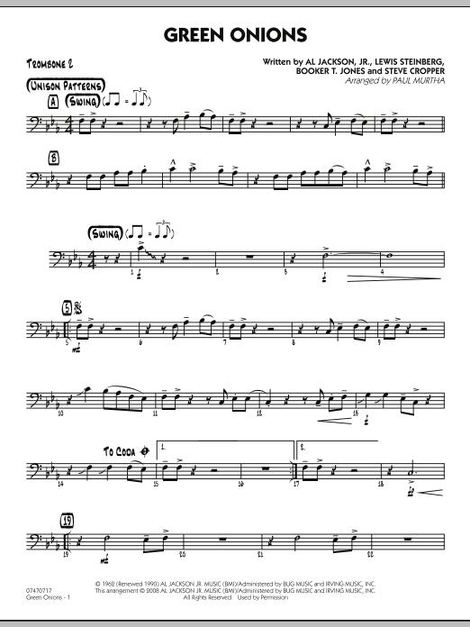 Green Onions - Trombone 2 (Jazz Ensemble)