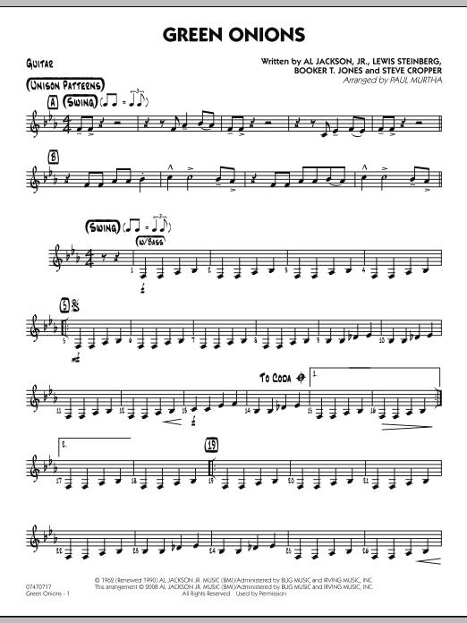 Green Onions - Guitar (Jazz Ensemble)