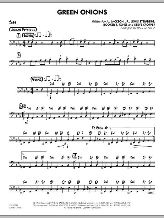 Green Onions - Bass (Jazz Ensemble)