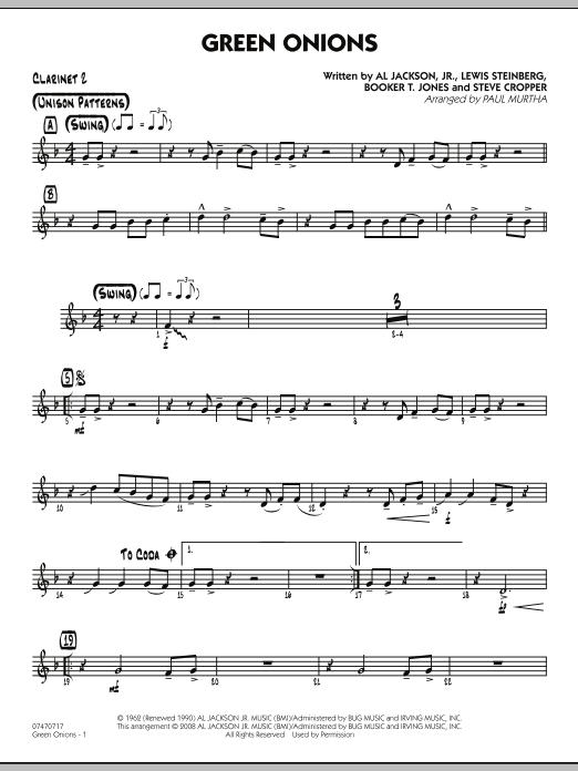 Green Onions - Bb Clarinet 2 (Jazz Ensemble)