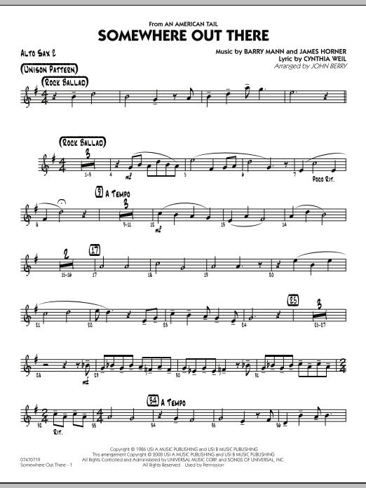 Somewhere Out There - Alto Sax 2 (Jazz Ensemble)