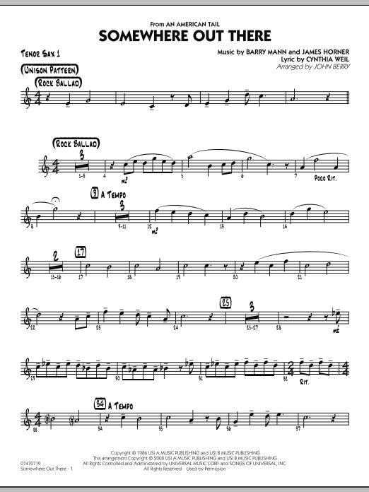 Somewhere Out There - Tenor Sax 1 (Jazz Ensemble)