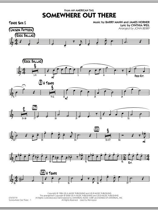 Somewhere Out There - Tenor Sax 2 (Jazz Ensemble)