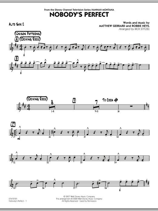 Nobody's Perfect - Alto Sax 2 (Jazz Ensemble)