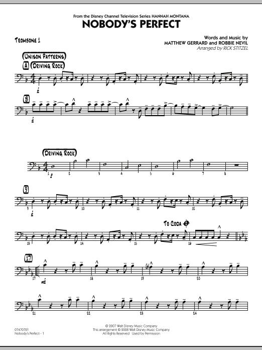 Nobody's Perfect - Trombone 1 (Jazz Ensemble)