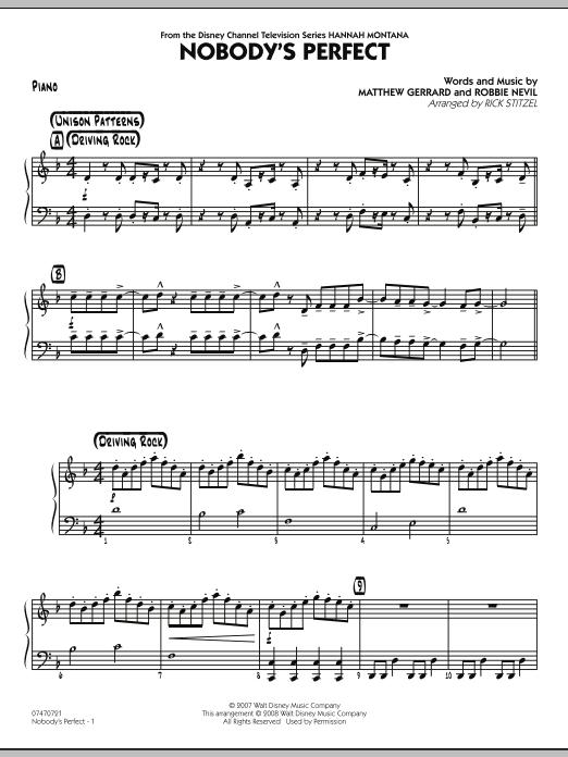 Nobody's Perfect - Piano (Jazz Ensemble)