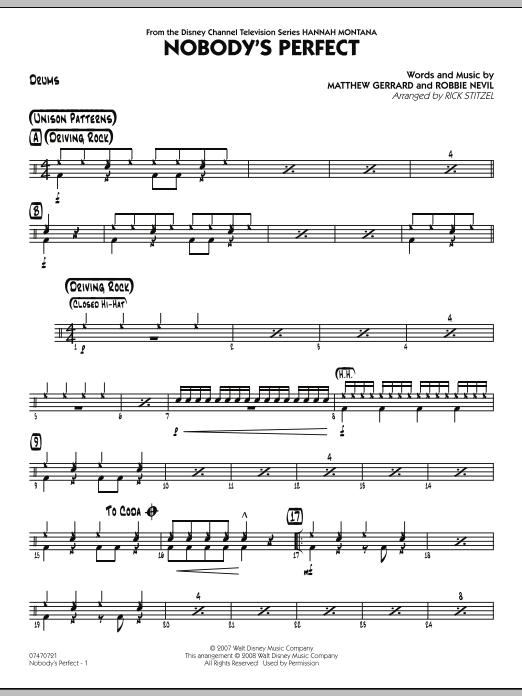 Nobody's Perfect - Drums (Jazz Ensemble)