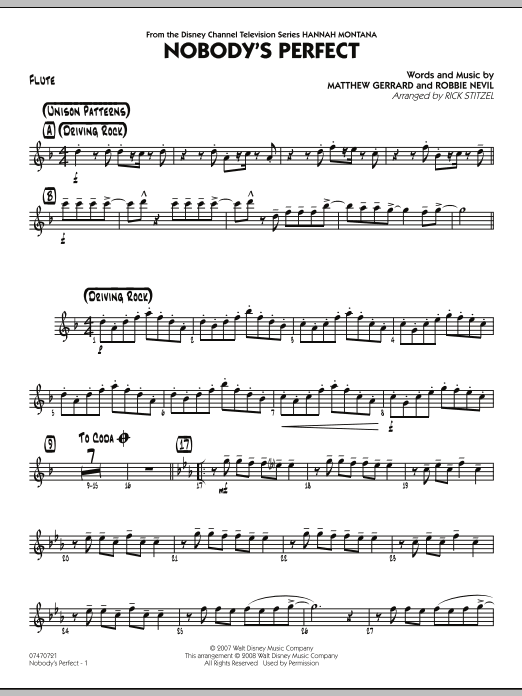 Nobody's Perfect - Flute (Jazz Ensemble)