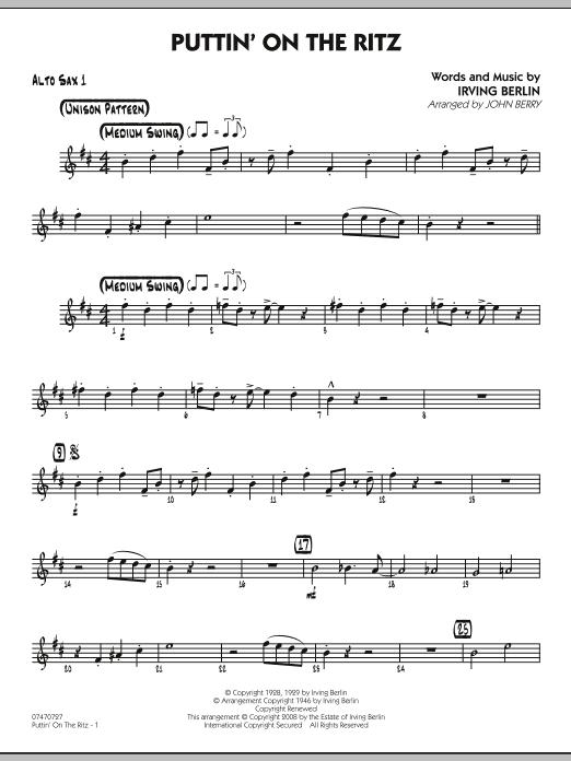 Puttin' On The Ritz - Alto Sax 1 (Jazz Ensemble)