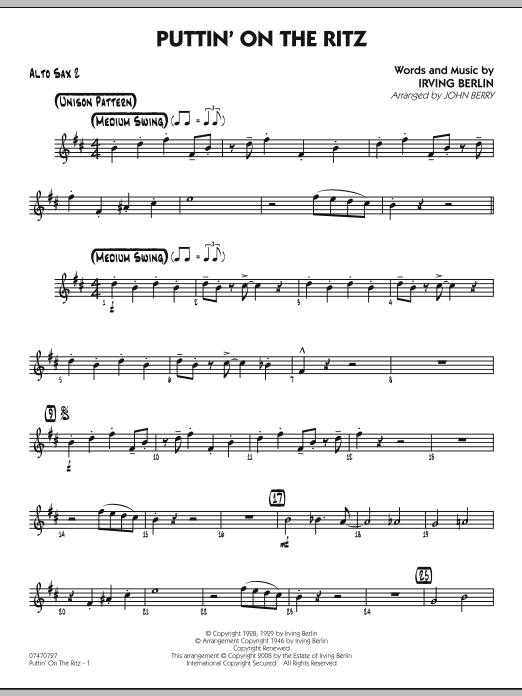 Puttin' On The Ritz - Alto Sax 2 (Jazz Ensemble)