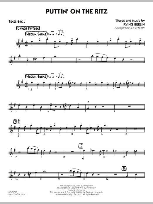 Puttin' On The Ritz - Tenor Sax 1 (Jazz Ensemble)