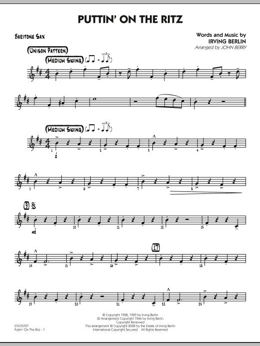 Puttin' On The Ritz - Baritone Sax (Jazz Ensemble)